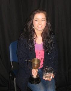 Tara with trophy
